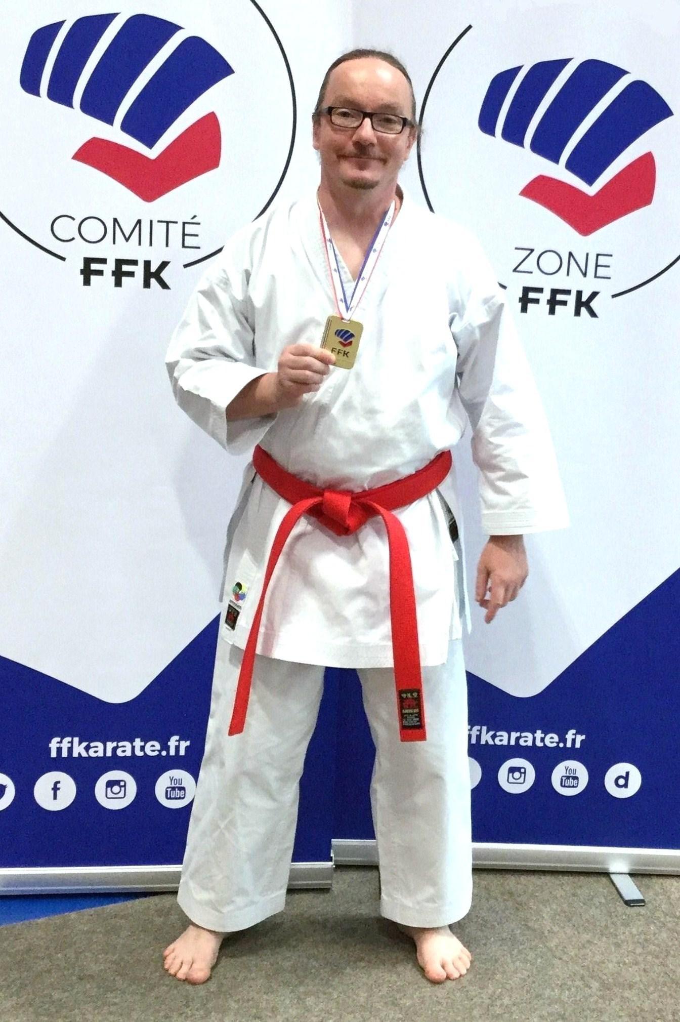 Sebastien Arlot champion de france 2018 karaté shotokan professeur AS KARATE DO